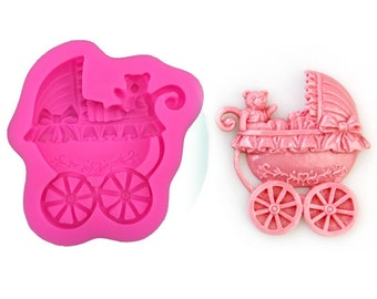 Baby Carriage Stroller Silicone Mold