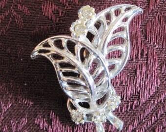 Vintage Open Work Silver Brooch