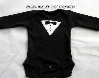 Infants Tuxedo  Bodysuit