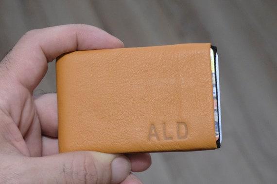Personalized wallet, Mens wallet, Minimalist Wallet, Leather Wallet, Modern design wallet, RFID Wallet - Original NERO Wallet