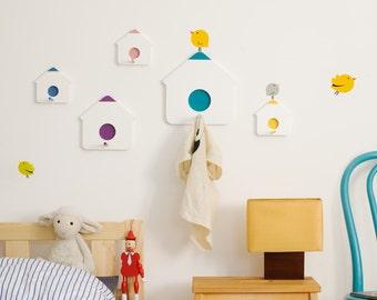 IKhaya Birdhouse clothes hooks + Bumoon stickers