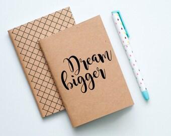 Pocket Sized Notebook Booklet - Dream Bigger (SET OF 2)