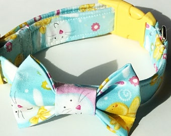Easter Bunny Bow Tie Collar for Male Dogs & Cats