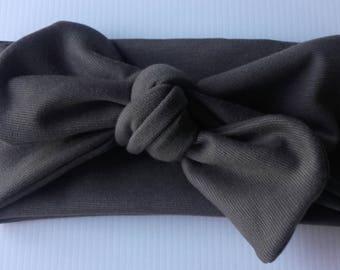 khaki hair bow headband