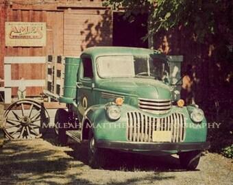 Camion photo - photo de ferme pays - Vintage vintage décoration