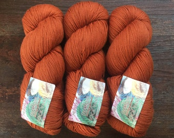 Cascade HERITAGE 150 Sock 5640 Cinnamon 12.99 +1.50ea to Ship Sport Weight Soft Stretchy Merino Wool 5640 Burnt Orange 492yd 150g MSRP 17.00