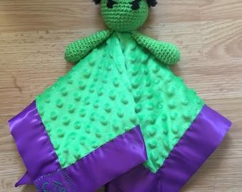 Hulk-Inspired Crochet Security Blanket Lovey