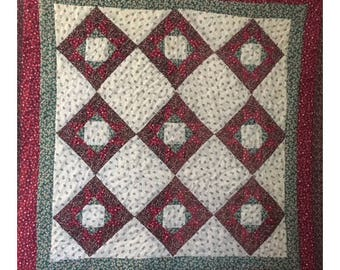 """Vintage QUILT Handmade for Wall or Lap - 36"""" x 36"""""""