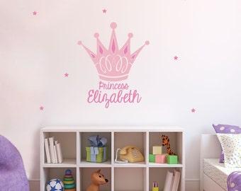 Royal Princess Crown - Wall Vinyl Decal