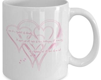 Hearts and love mug