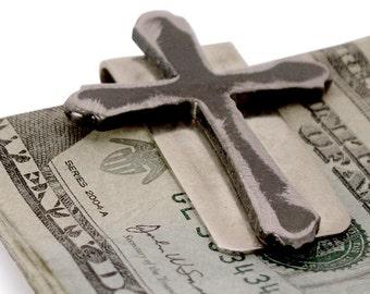 Cross Money Clip /  Gift for Best Man, Groomsmen Gift, Wedding or Birthday by WATTO Distinctive Metal Wear