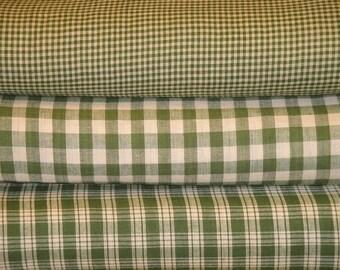 Homespun Fabric Green And Tea Dye Fat Quarter Bundle