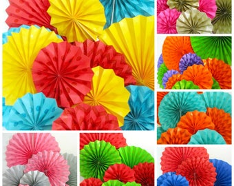 Hanging Fans Party Decoration 4 Paper Fans Glitter Fans Pinwheels Birthday Decorations Party Table Backdrop Wedding Background Baby Shower