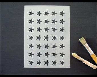 Stars Pattern Reusable Stencil