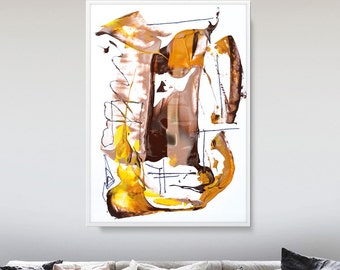 Large Abstract Painting, Earth Tones, Printable Art, Large painting, printable wall art, instant Digital Download, affordable wall art