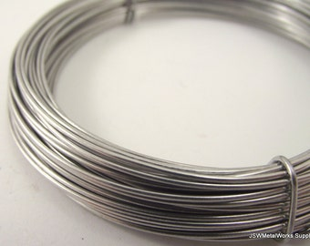 Silver Anodized Aluminum Wire, 18 gauge, 45 foot coil