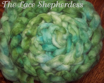 "Hand dyed Coopworth Wool Pin Draft Roving.  7.8 oz. ""Joy"""