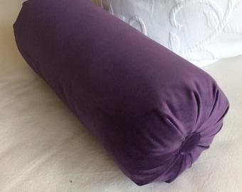 Grape Purple faux velvet Bolster Pillow 6x14 6x16 6x18 6x18 6x20 6x22