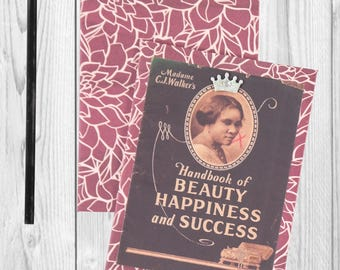 Writing journal, notebook, bullet journal, diary, sketchbook, blank - Madame CJ Walker  -- Journal / Sketchbook
