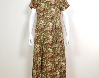 ON SALE Long Grunge Dress: Vintage 90s dress long floral dress maxi ditsy dress 1990s grunge dress 90s floral dress floral maxi dress long f