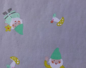 1/2 Yard Cotton Quilting Fabric - Michael Miller Hank and Clementine, Hank Grey
