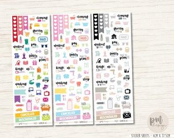 Functional Sampler #2 Sticker Sheet - Planner Stickers - FS22