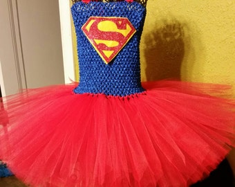 Superman inspired tutu dress
