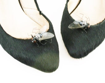Fly, Shoe Clips, Creepy, Crawly, Bug, Shoe Accessory, Fashion Accessories, Halloween Accessories, Shoe Decorations