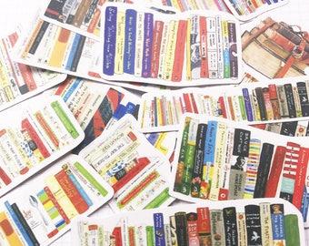 18 PCS, Book sticker, Bookworm sticker, School sticker, Book stickers, Teacher sticker, Math sticker, Reading sticker, SK 30