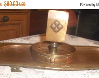 SALE Arts & Crafts copper smoking tray/match holder Roycraft style circa 1920's