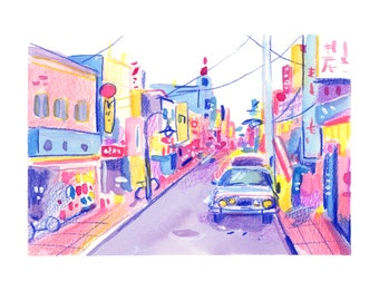 Tokyo Streetscape -- Art Print