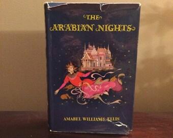 The Arabian Nights - Amabel Williams-Ellis Illustrated By Chronicles Of Narnia Illustrator Pauline Diana Baynes 1957 1st Edition Dust Jacket