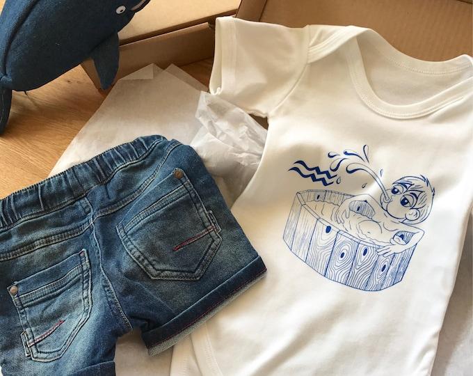 Aquarius Zodiac - Organic Baby Bodysuit