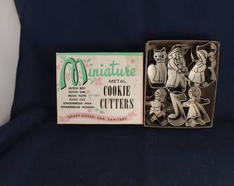 Miniature Metal Cookie Cutters in Original Box