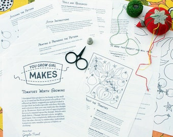 "Makes: ""Tomatoes Worth Growing"" - Embroidery pattern and instruction booklet"