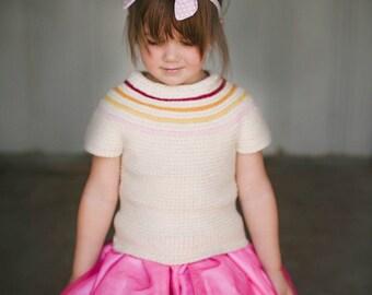 Reversible Girls Crochet Sweater Pattern No. 15