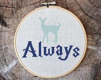 Always - Cross stitch pattern, inspirational quote, embroidery pattern, Pdf PATTERN ONLY (Q004)