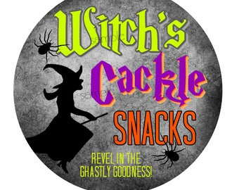 Halloween Stickers,Witch stickers, Halloween favors, Class treats, Halloween party favors, Hallloween labels, witchs broom,spiders