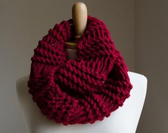 Infinity Scarf Pattern, Knitting Pattern, Chunky Knit Scarf Pattern, Knit Cowl Pattern, Knit Cowl Scarf Pattern, Chunky Scarf Pattern Scarf