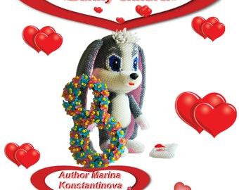 "Pattern / Tutorial Beaded Ornament - Master class for creating ""Bunny Shnufel"""