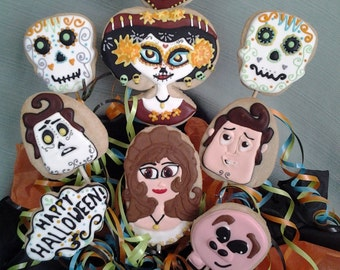 "Halloween Dia de Los Muertos ""Book of Life"" Movie Cookie Bouquet"
