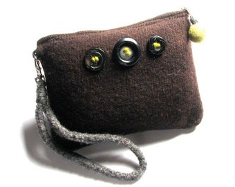 Salvaged Wool Pouch