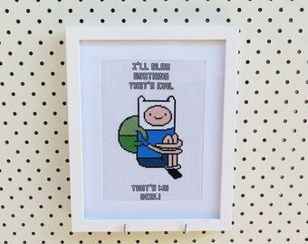 Adventure Time Finn Cross Stitch Pattern