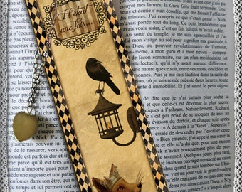 """Plastified bookmark """"Once upon a time"""", cheap gift idea"""