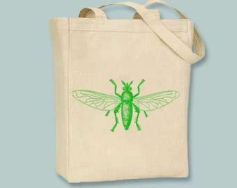 Bright Summer Vintage Bugs 4  Canvas Tote - Selection of sizes & choice of image color available