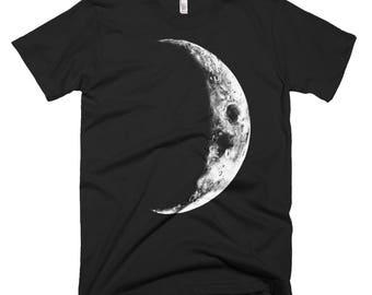 Crescent Moon T Shirt, Alternative Apparel, Womens Clothing, Womens Tshirt, Mens T Shirt, American Apparel Tshirt, Boho Clothin