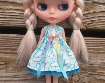 Blue Tulip #2 Blythe Dress