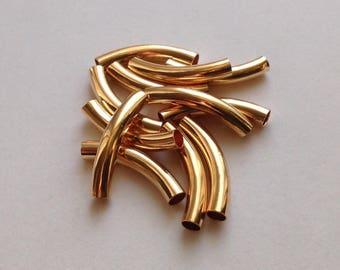 4mm-ID Gold Plated Tubes - 12 pieces