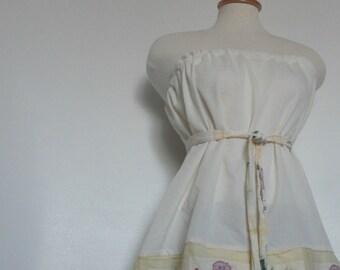 Womens Modern Pillowcase Dress / Tunic Tube Top. Eco Fashion. Spring Dress. Summer Dress. Boho Chic. Floral Dress