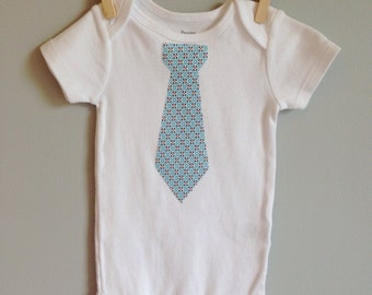 TAG SALE! Tie shirt  Bodysuit blue and red checks - Tie onesie shirt - Great for photos - Father's Day